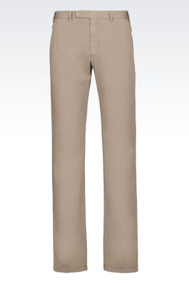 Armani Chinos Men trousers in stretch gabardine