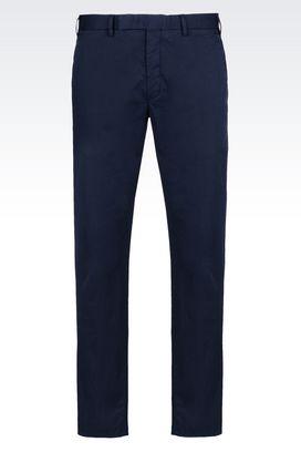 Armani Chinos Men trousers in stretch gabardine