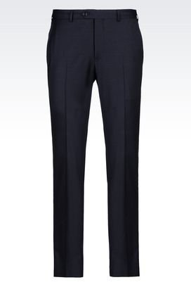 Armani Straight leg pants Men trousers in stretch wool