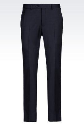 Armani Straight leg pants Men trousers in stretch wool