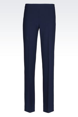 Armani Wide-leg trousers Women trousers in crêpe