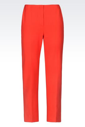 Armani Straight leg pants Women trousers in stretch gabardine