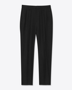 Classic Boyfriend Trouser in Black Linen Twill