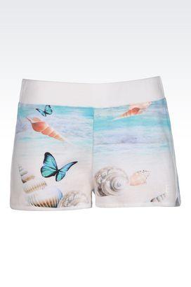 Armani Shorts Donna shorts in felpa