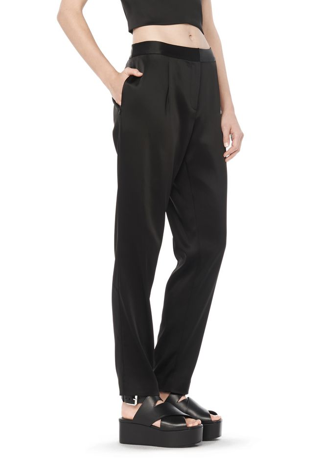 T by ALEXANDER WANG PANTS Women STRETCH SATIN TROUSERS
