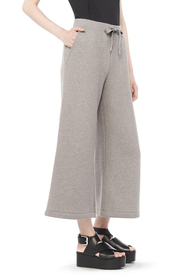 T by ALEXANDER WANG resort-2016 COTTON FLEECE WIDE LEG SWEATPANTS