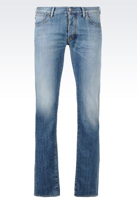 Armani Jeans Men slim fit medium wash jeans