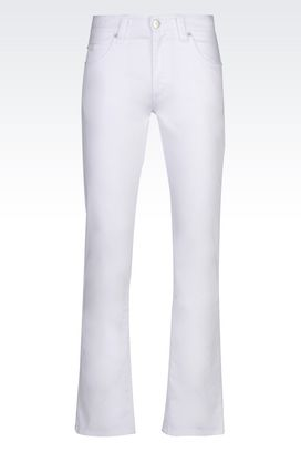 Armani 5 pockets Men regular fit white wash jeans