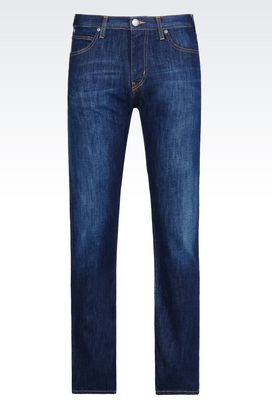 Armani Jeans Men slim fit dark wash jeans