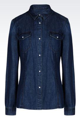 Armani Long sleeve shirts Women denim shirt