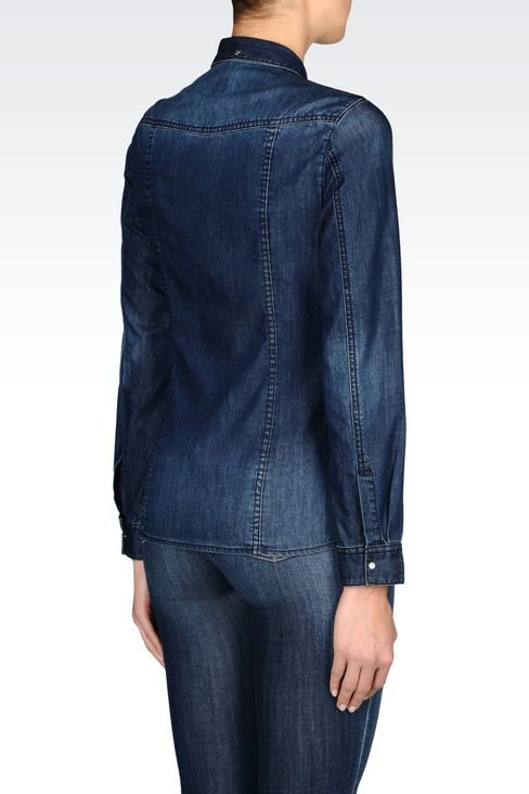 DENIM SHIRT: Long sleeve shirts Women by Armani - 3