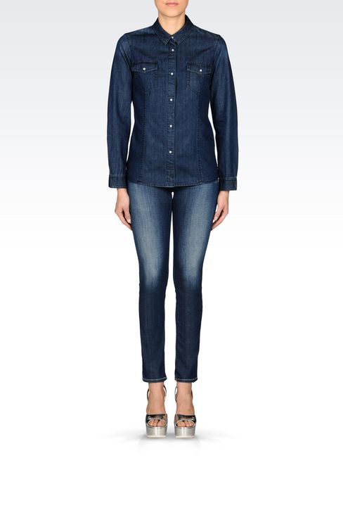 DENIM SHIRT: Long sleeve shirts Women by Armani - 2