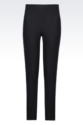 Armani Straight leg trousers Women trousers in crêpe