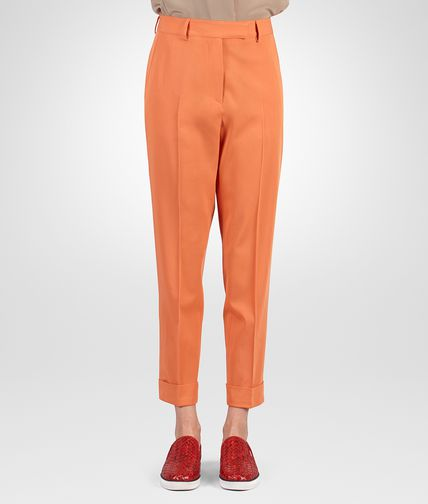 PANT IN PERSIMMON WOOL GABARDINE