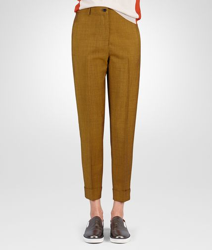PANT IN LUTEOUS WOOL MOHAIR