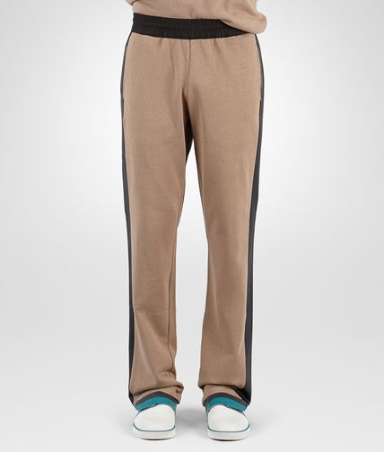 SWEAT PANTS IN TOFFEE NERO PRINTED COTTON JERSEY