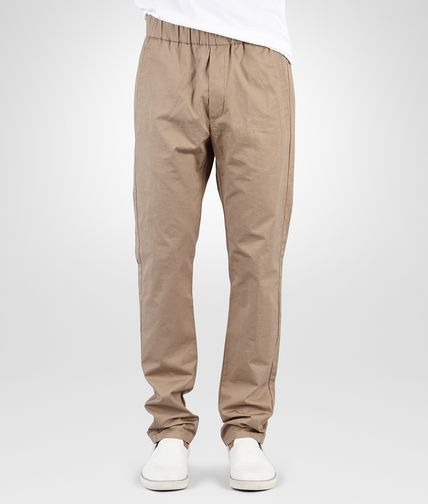 PANTS IN TOFFEE COTTON