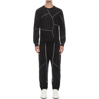 ALEXANDER MCQUEEN, Casual Trousers, Sail Stitch Patchwork Trousers
