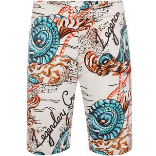 ALEXANDER MCQUEEN, Casual Pants, Printed Sweat Shorts