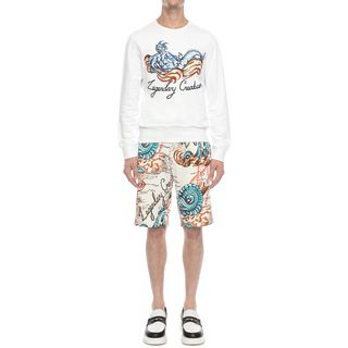 ALEXANDER MCQUEEN, Casual Trousers, Printed Sweat Shorts