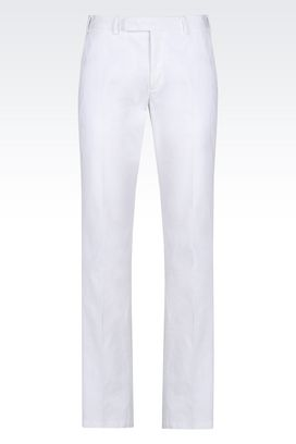 Armani Chinos Men cotton trousers