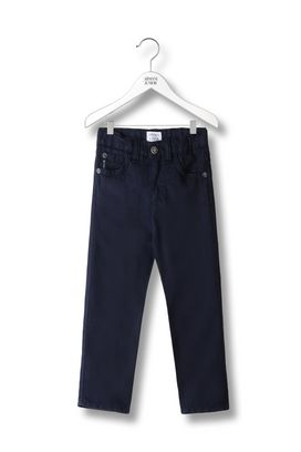 Armani Pants Men 5-pocket trousers in cotton and linen