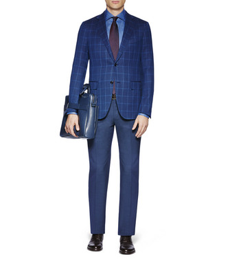 ERMENEGILDO ZEGNA: Formal Trousers Slate blue - 36796714WV