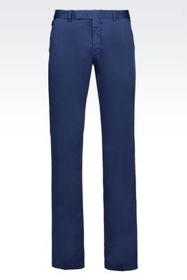 Armani Chinos Men stretch cotton trousers