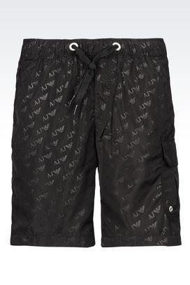 Armani Bermuda shorts Men bermuda shorts in branded fabric