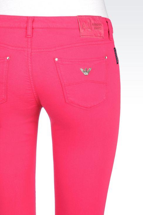 SKINNY FIT 5-POCKET TROUSERS IN MODAL BLEND: Jeans Women by Armani - 5