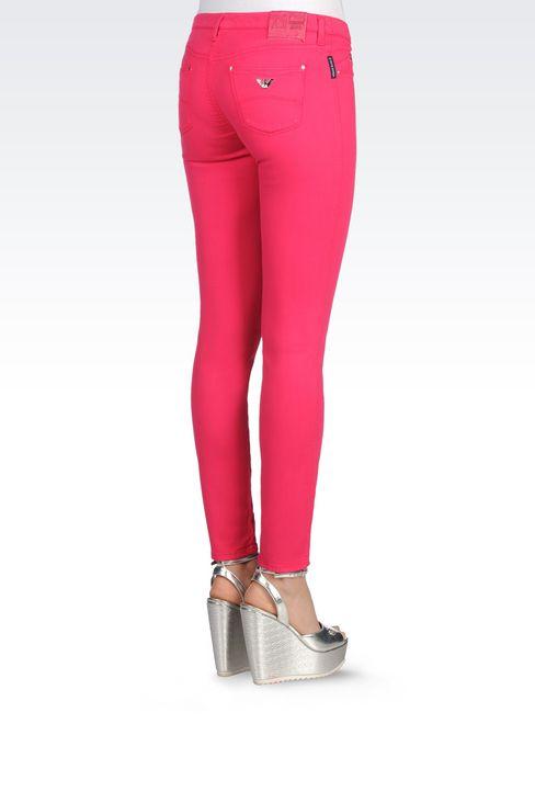 SKINNY FIT 5-POCKET TROUSERS IN MODAL BLEND: Jeans Women by Armani - 4