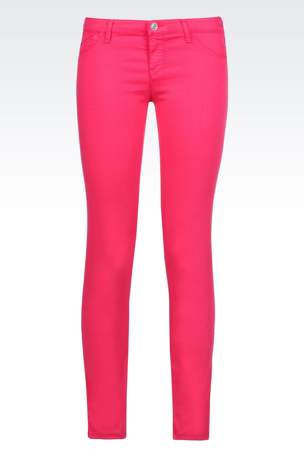 SKINNY FIT 5-POCKET TROUSERS IN MODAL BLEND: Jeans Women by Armani - 0