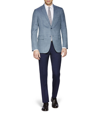 ERMENEGILDO ZEGNA: Formal Trousers Blue - 36801430MA