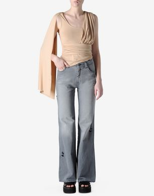 High-waisted flare-leg jeans