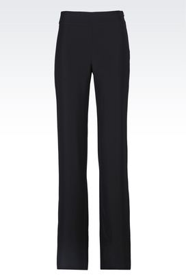 Armani Pants with tucks Women trousers in cady