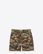 Army Cargo Short in Vintage Camouflage Cotton