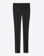 Classic Trouser in Black and Silver Micro Sequins Wool, Cupro and Polyester