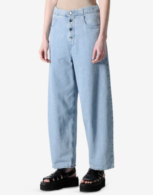 High waisted oversized jeans