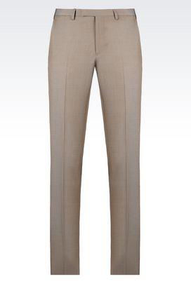 Armani Straight leg pants Men virgin wool trousers
