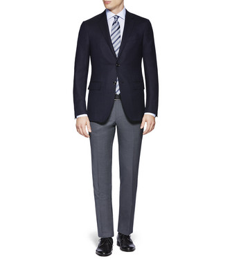 ERMENEGILDO ZEGNA: Dress Pants Steel grey - 36812332BW