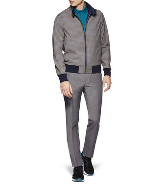 ZZEGNA: Dress Pants Grey - 36812345UW