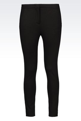 Armani Straight leg pants Women jersey trousers
