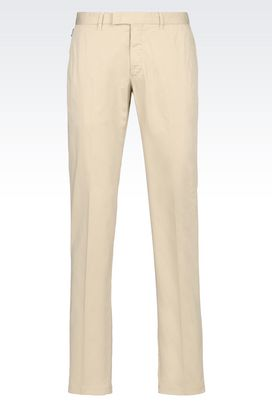Armani Chinos Men stretch cotton trousers
