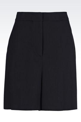 Armani trousers Women bermuda shorts in stretch natté
