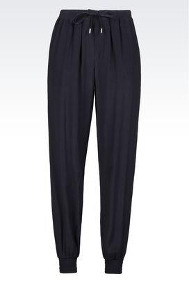 Armani High-waist pants Women trousers in crêpe