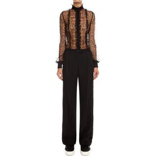 ALEXANDER MCQUEEN, Trousers, Wool Silk Men's Cut Trousers