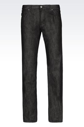 Armani Jeans Men slim fit black wash jeans