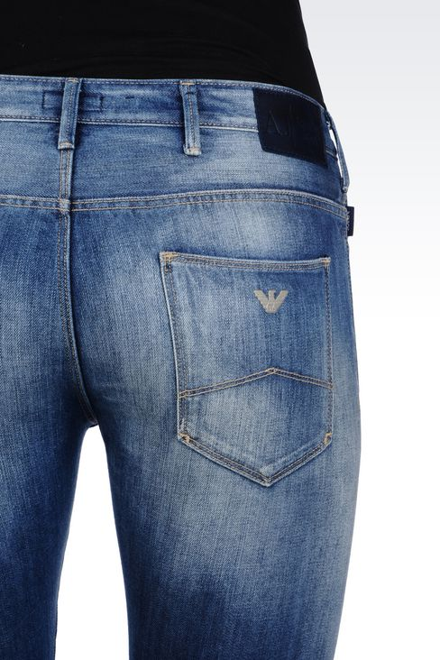 SLIM FIT MEDIUM WASH JEANS: Jeans Men by Armani - 5