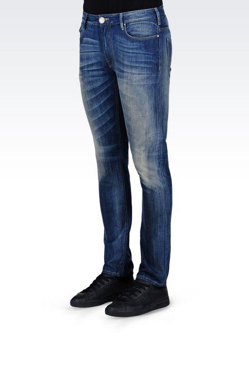 SLIM FIT MEDIUM WASH JEANS: Jeans Men by Armani - 3