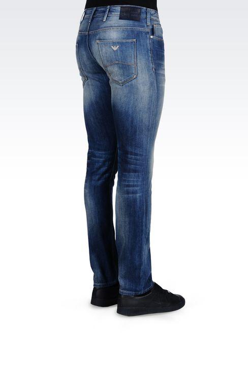 SLIM FIT MEDIUM WASH JEANS: Jeans Men by Armani - 4